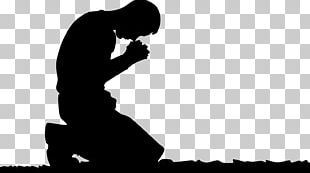 Praying Hands Prayer Man Silhouette PNG