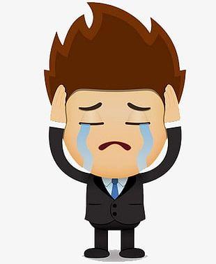 Sad Man PNG