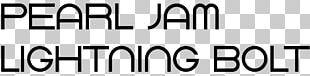 Lightning Bolt Pearl Jam Logo Font PNG