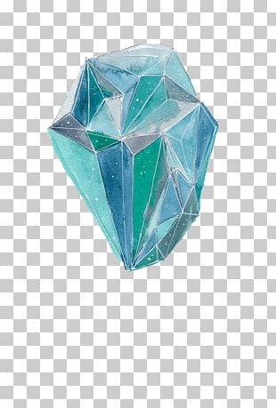 Watercolor Painting Drawing Crystal Illustration PNG