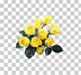 Rose Yellow Flower Bouquet PNG