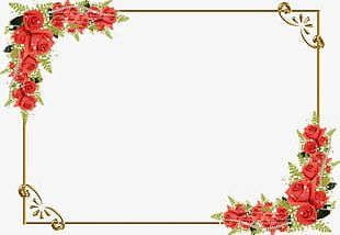 Red Rose Border PNG