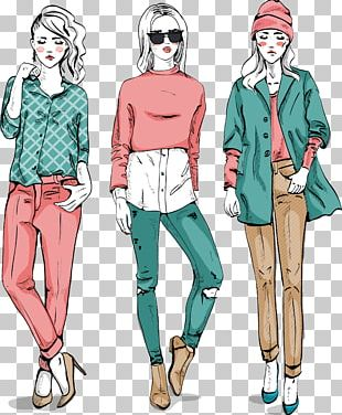 Fashion Cartoon Drawing PNG