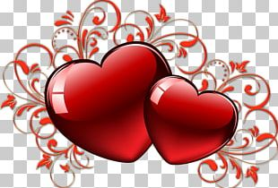 Valentine's Day Love Heart Red PNG