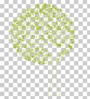 Floral Design Leaf Plant Stem Font PNG