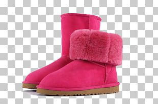Snow Boot Red PNG