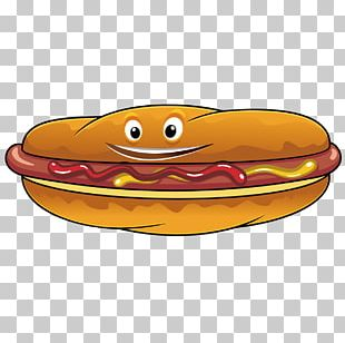 Hot Dog Sausage Fast Food Cheese Sandwich Mustard PNG