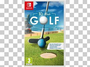 Nintendo Switch 3D Mini Golf Video Game Miniature Golf PNG