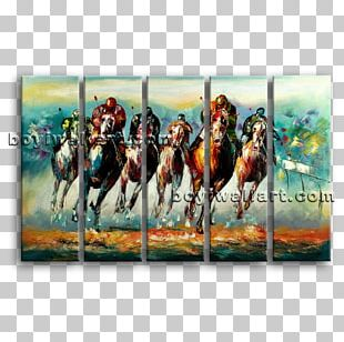 Horse Painting Abstract Art Canvas Print PNG