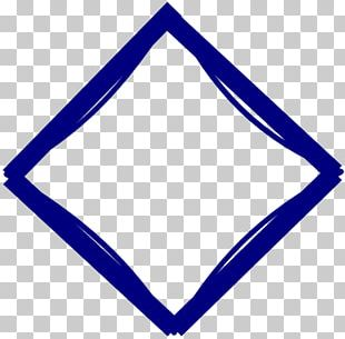 Blue Diamond Rhombus Shape PNG
