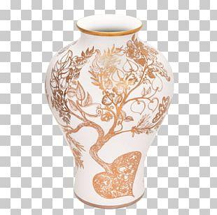 Vase Tree Of Life Haviland & Co. Ceramic PNG