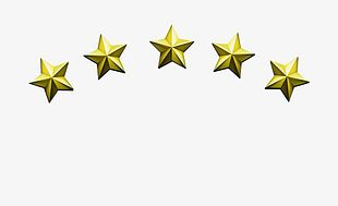 Metal Texture Five-star PNG