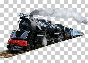 Train Rail Transport Steam Locomotive PNG