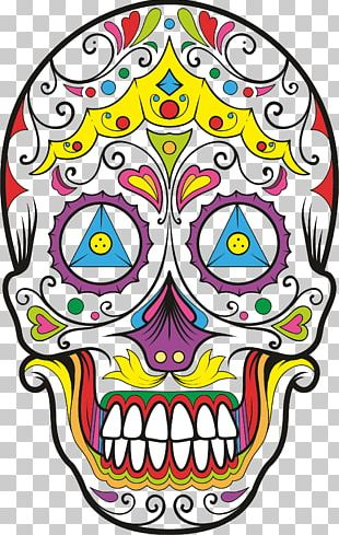 Calavera Skull T-shirt Day Of The Dead Mexican Cuisine PNG