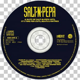 Compact Disc A Blitz Of Salt-n-Pepa Hits The Greatest Hits A Salt With A Deadly Pepa PNG