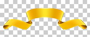 Paper Ribbon Web Banner Gold PNG