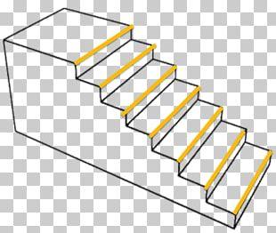 Stairs Handrail Wall Dark Pattern PNG