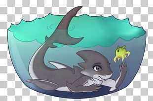Dolphin Shark Cartoon Legendary Creature PNG