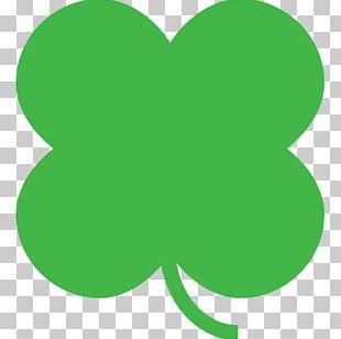 Four-leaf Clover Shamrock Emoji PNG