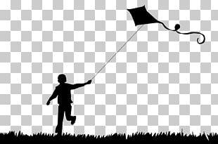 Kitesurfing Silhouette Child PNG