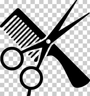 Comb Cosmetologist Beauty Parlour Hair-cutting Shears PNG