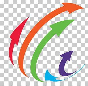 Three-dimensional Space Arrow Logo PNG