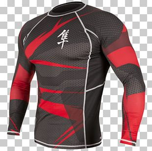 Long-sleeved T-shirt Hayabusa Metaru MMA Rash Guard Mixed Martial Arts PNG