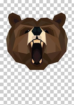 Brown Bear Polar Bear American Black Bear Geometry PNG