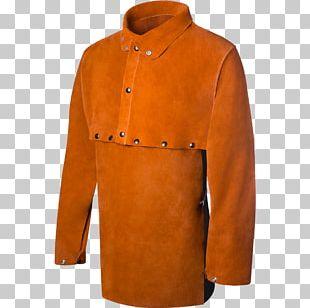 Sleeve Welding Jacket Leather Cowhide PNG