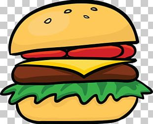 Hamburger Cheeseburger Hot Dog Veggie Burger Cartoon PNG