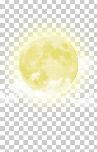 Moon Yellow Sky PNG