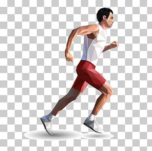 Running 3D Computer Graphics Illustration PNG