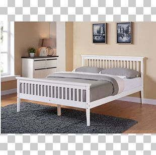 Bed Frame Bedside Tables Mattress Sleigh Bed PNG