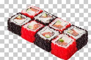 Sushi Makizushi California Roll Smoked Salmon Tobiko PNG