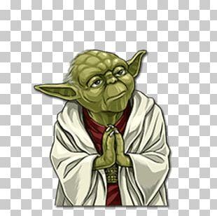 Yoda Sticker Telegram Star Wars Film PNG