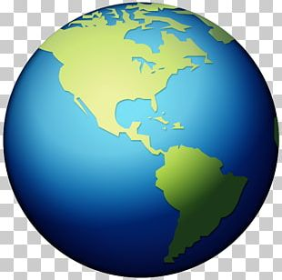 Earth Globe World Emoji Americas PNG