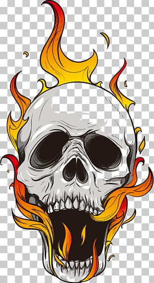 Flame Skull Computer File PNG