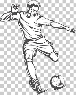 Football Player Kick PNG
