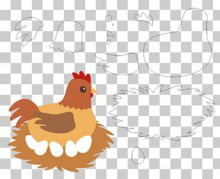 Rooster Chicken Felt PNG