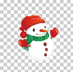 Santa Claus Christmas Snowman Cartoon PNG