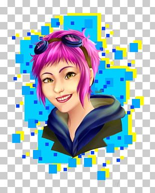 Ramona Flowers Scott Pilgrim Vs. The World Neil Art Hair Coloring PNG