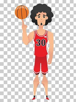 NBA Basketball Player Cartoon PNG