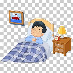 A Girl Asleep Cartoon Illustration PNG