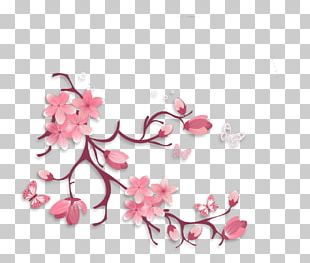Flower Branch Floral Design Petal Twig PNG