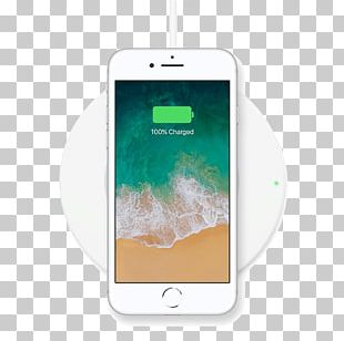 Apple IPhone 8 Plus IPhone X Battery Charger Inductive Charging Qi PNG