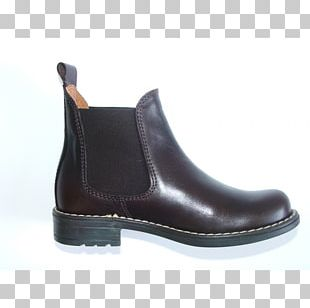 Boot Leather Shoe Black M PNG