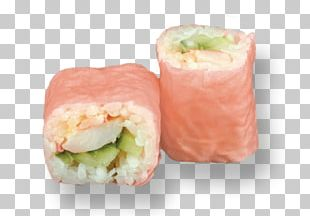 California Roll Smoked Salmon Sushi Side Dish Recipe PNG