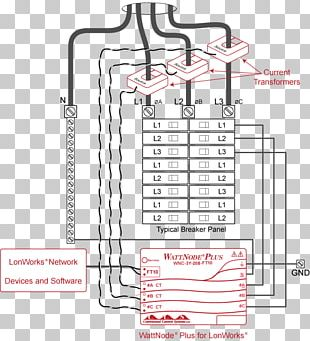Utility Submeter Electricity Meter Wiring Diagram PNG