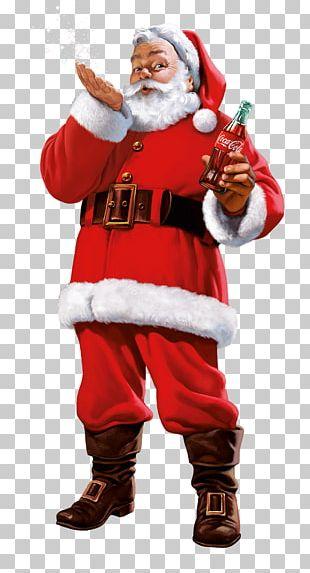 Santa Claus Coca-Cola Fizzy Drinks Père Noël Christmas PNG