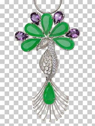 Emerald Brooch Charms & Pendants Body Jewellery PNG